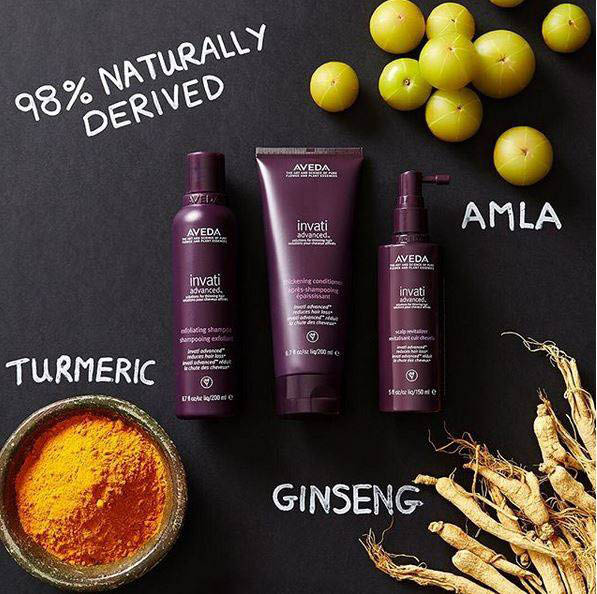 Aveda advanced product line for hair care; haircuts for women