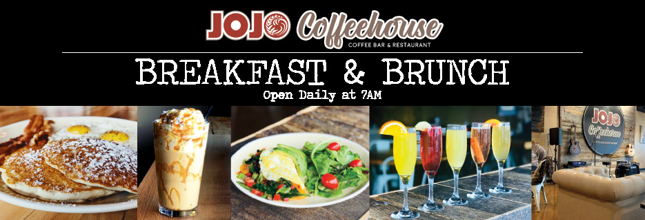 Coffee Shop brunch and mimosas relax with live music and entertainment