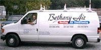 bethany air hvac van; bethany air services annapolis, anne arundel, and prince george's county maryland