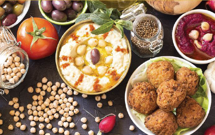 Fresh Mediterranean Foods made from natural ingredients