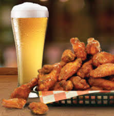 Babbo's delicious wings with an ice cold brew