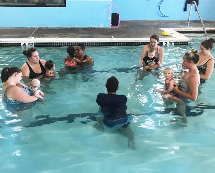 2 month old swim lessons