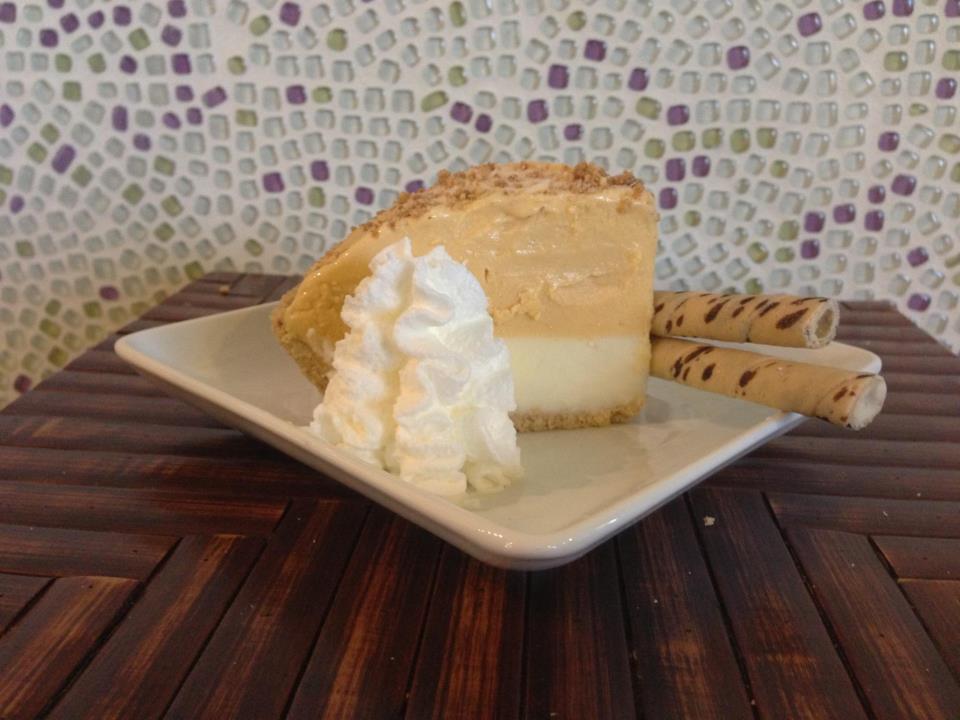 Fresh slice of yogurt pie - we have cakes & cupcakes, too