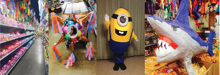 personalized party supplies, engagement party decorations, monkey pinata, fiesta party supplies,