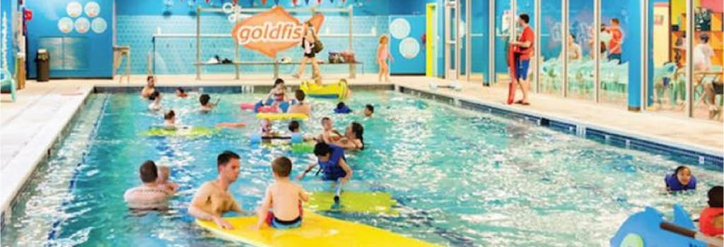 gold fish swim school lessons party kids