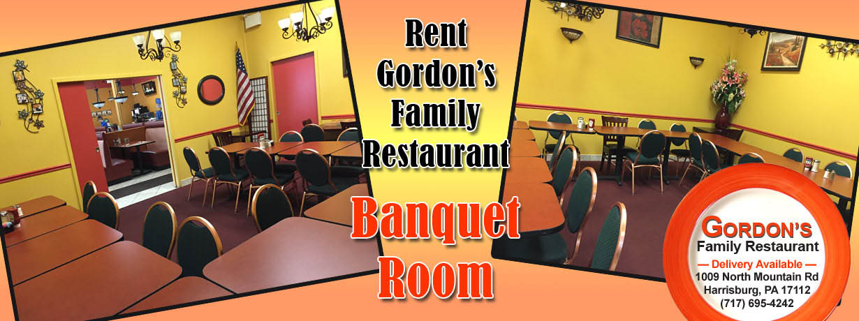 Have your next family reunion in our banquet room.