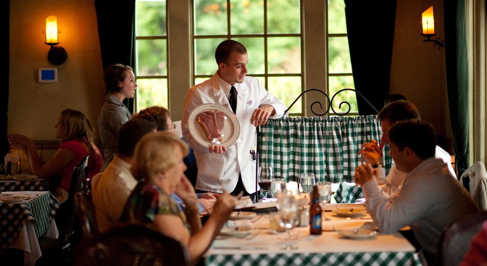 Joey Gerard's in Mequon and Greendale WI serves in a traditional supper club fashion.