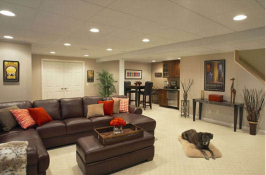 Basement waterproofing, basement flooring, basement lighting