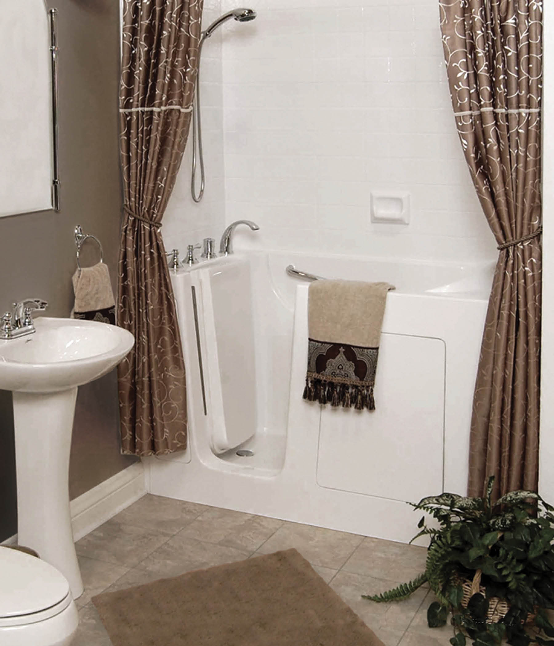 walk-in tub built by bath creations