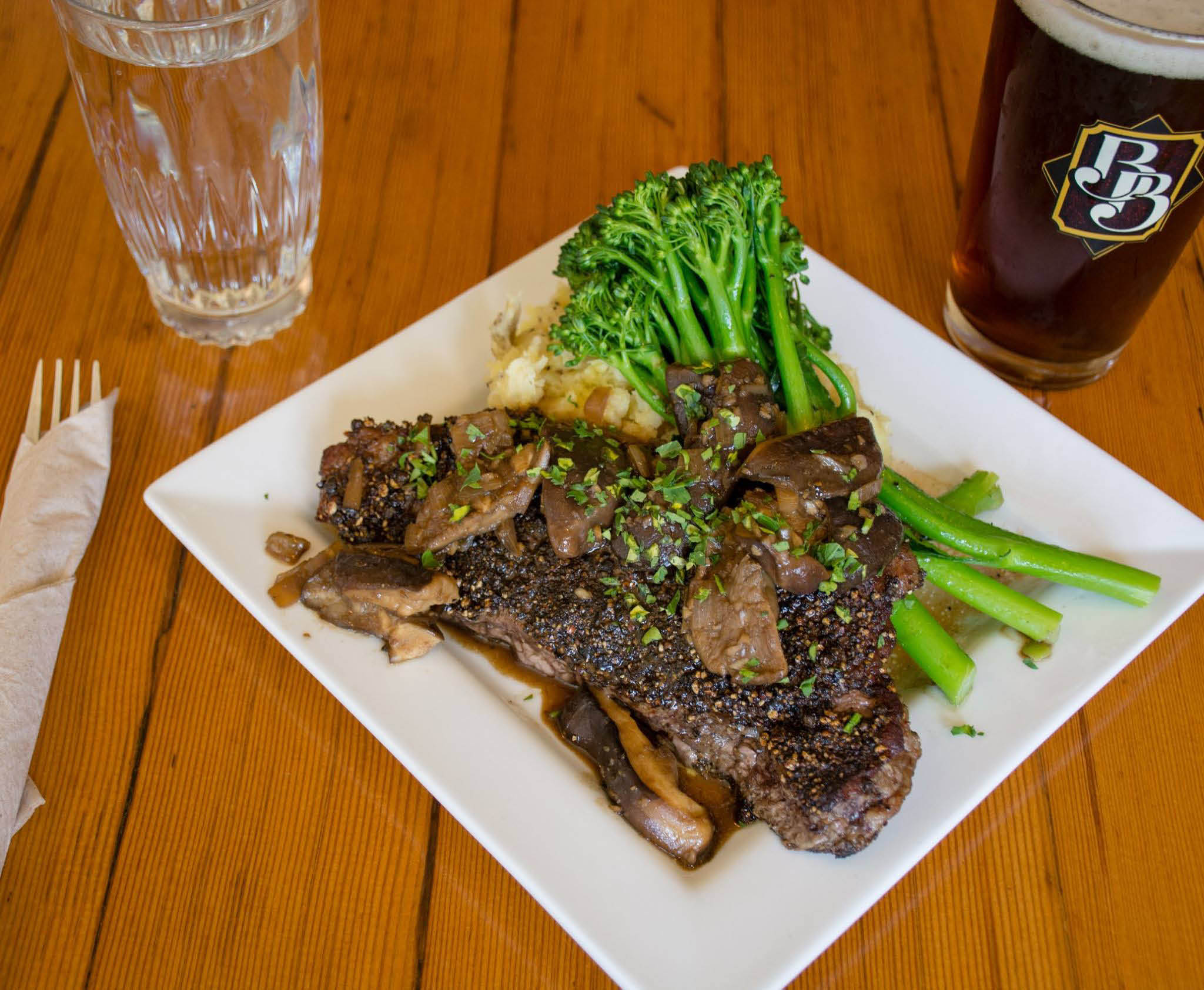 Boundary Bay Brewery Bellingham whatcom county steak
