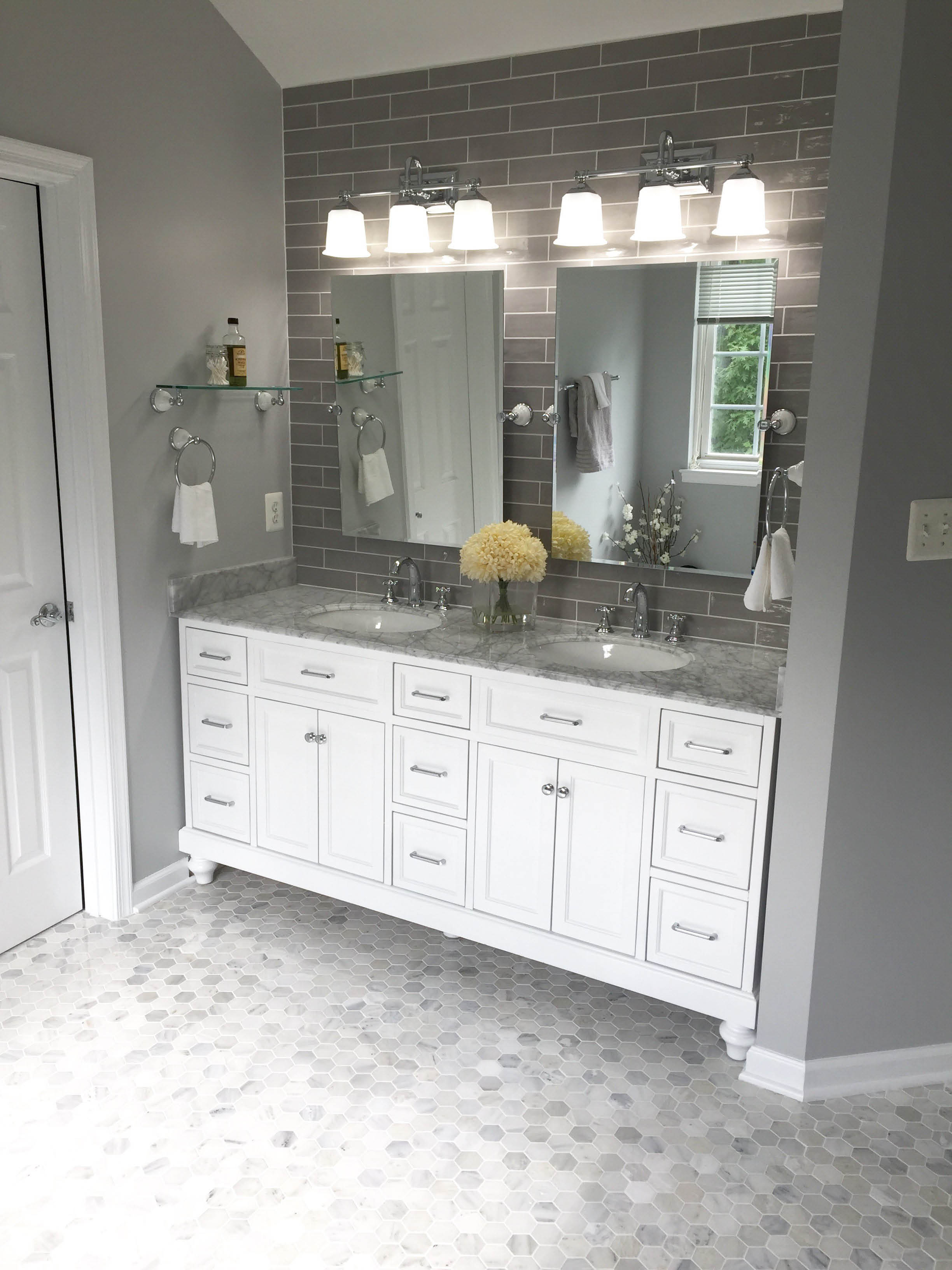 bathroom remodeling, building by design in northern virginia
