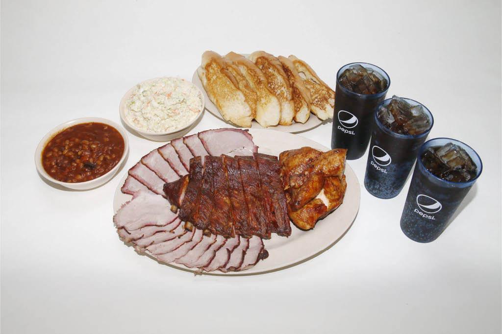 barbecue ribs; soft drinks; fries; BBQ beef; pork; chicken Backyard Boy BBQ Daytona