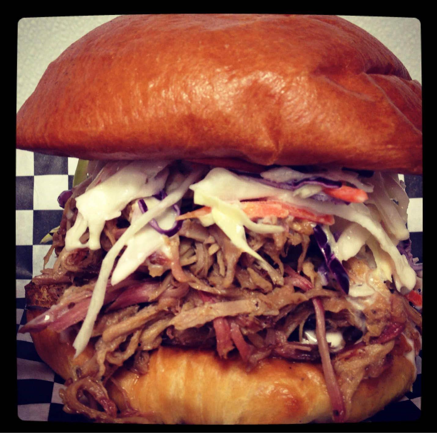 Official overstuffed BBQ pork sandwich in Harrisburg