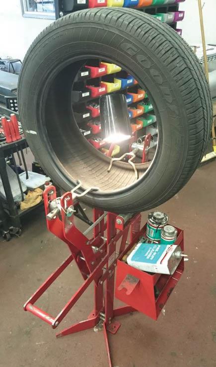 tire. flat, repair