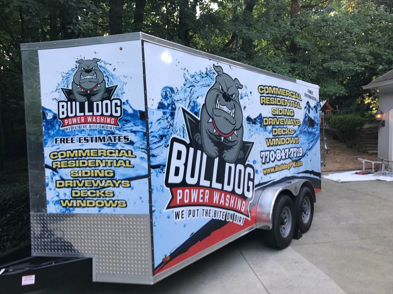 Bulldog Power Washing truck in your Atlanta neighborhood