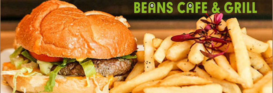 Beans cafe, grill,restaurant,dinner,sports bar,italian bakery,organic food,fresh salads,si,ny,coupon