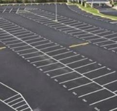 parking lot, paved, residential, commercial