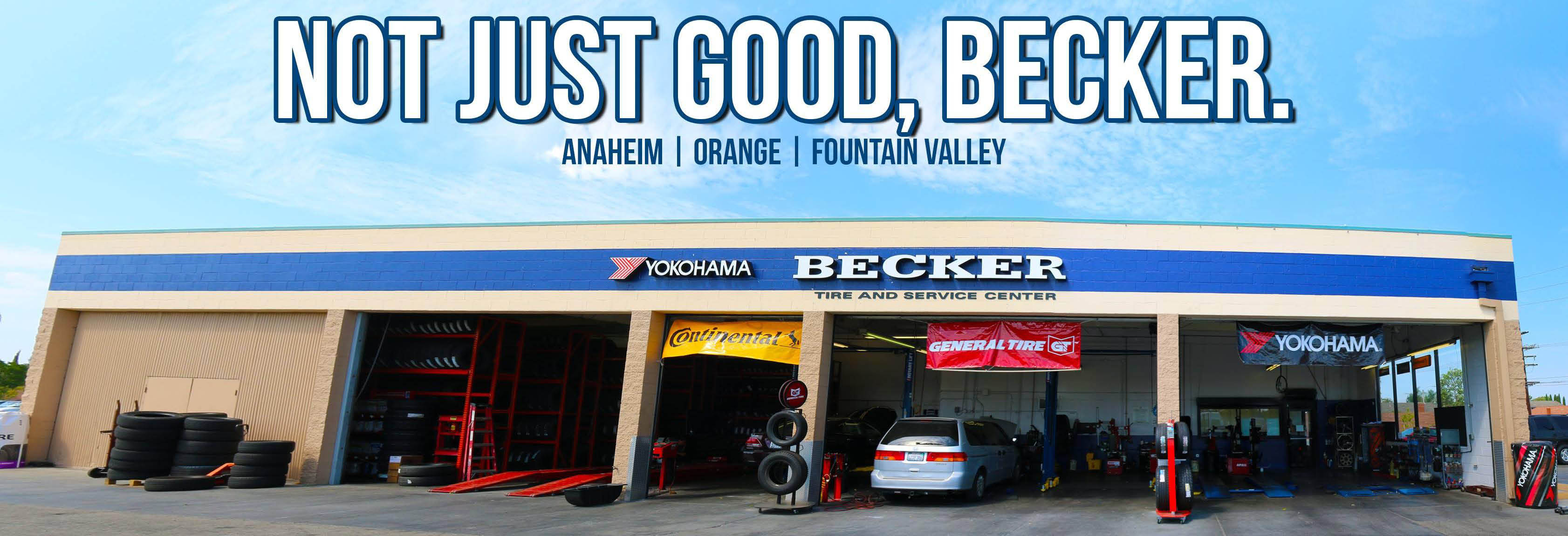 Becker Tire in Anaheim, Costa Mesa & Orange, CA banner