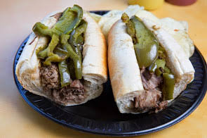 beef and pepper sandwich from Garibaldi's Italian Eatery in Hoffman Estates, IL