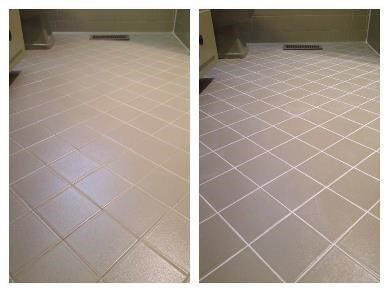 cleaning kitchen floor tiles, tile cleaning and restoration, brown tile grout, tile and grout