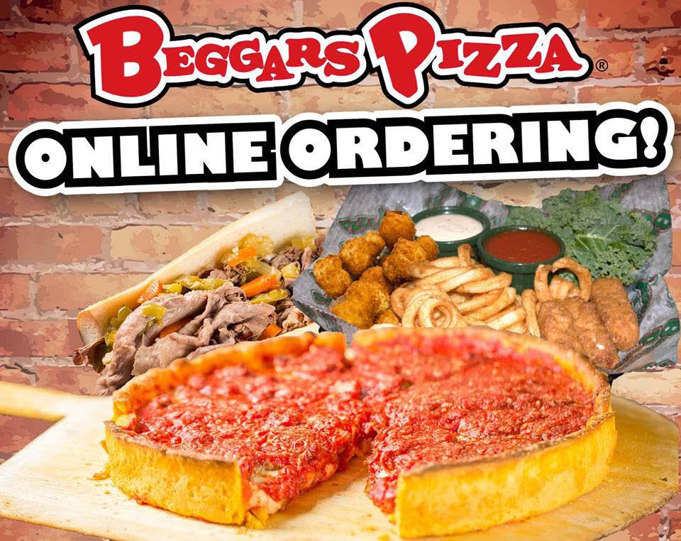 Beggar's Pizza offers online ordering .