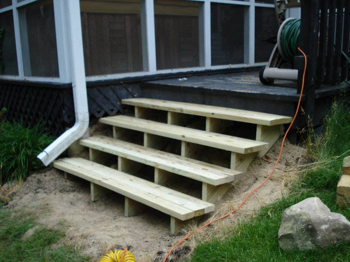 New steps installation near Cary