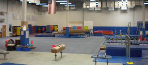 Buffalo Grove Gymnastics has a massive gym for extra fun.