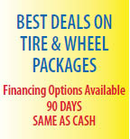 At BHY Tire & Wheel, we have finance options available for your purchases