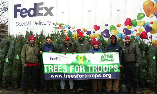 Ask about our special delivery of trees for troops