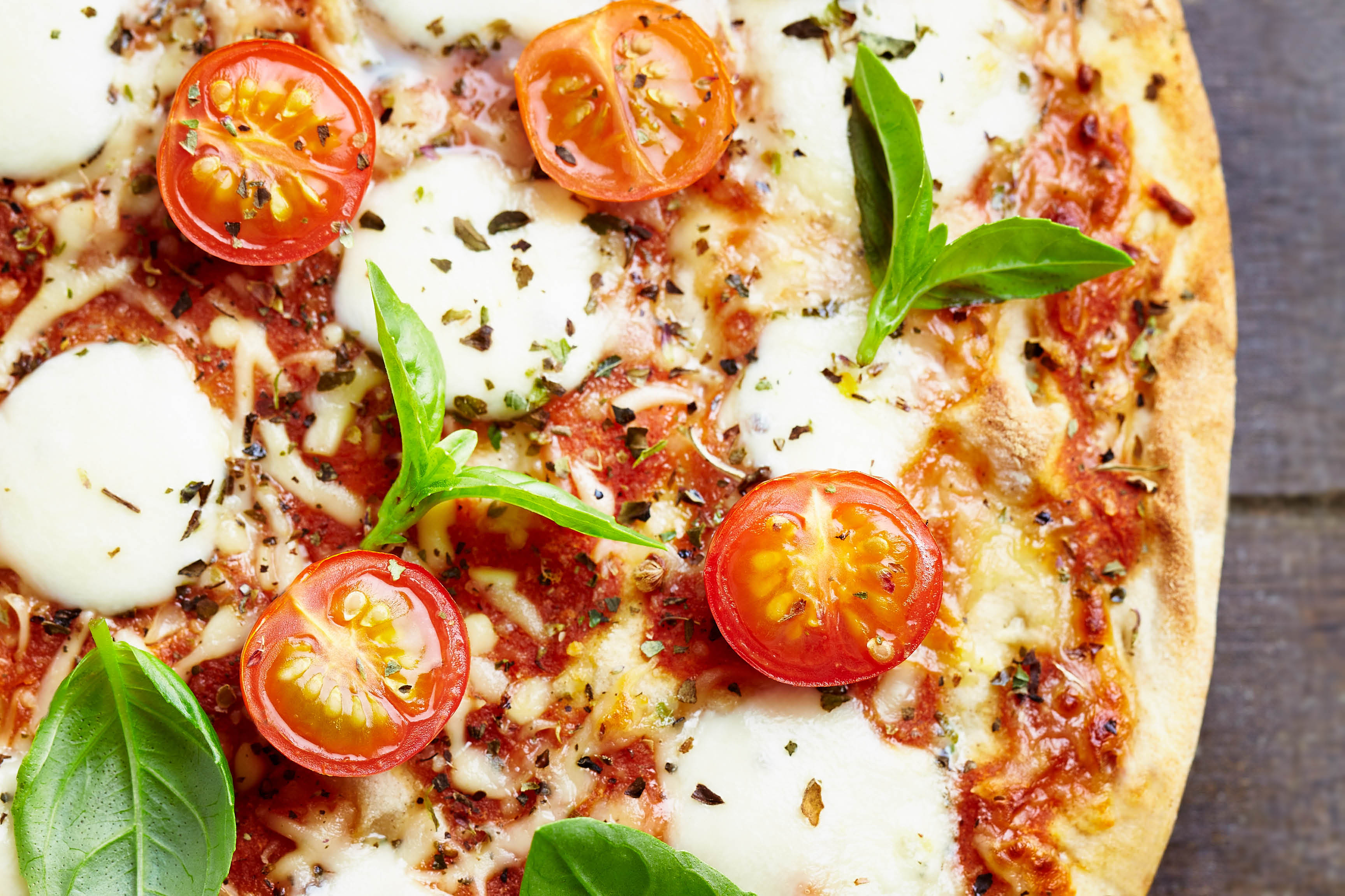 Italian recipe pizza loaded with pizza toppings