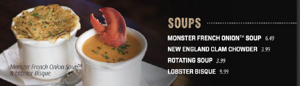 Picture of soups at Black Rock Restaurant in Utica