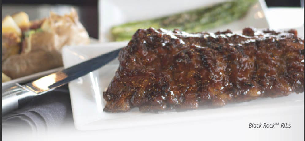 Picture of rib dinner at Black Rock Restaurant in Utica