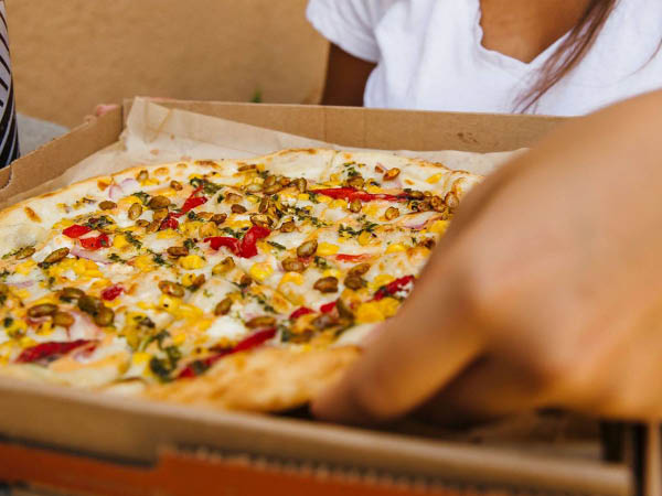 Blaze Pizza specialty pizza made your way