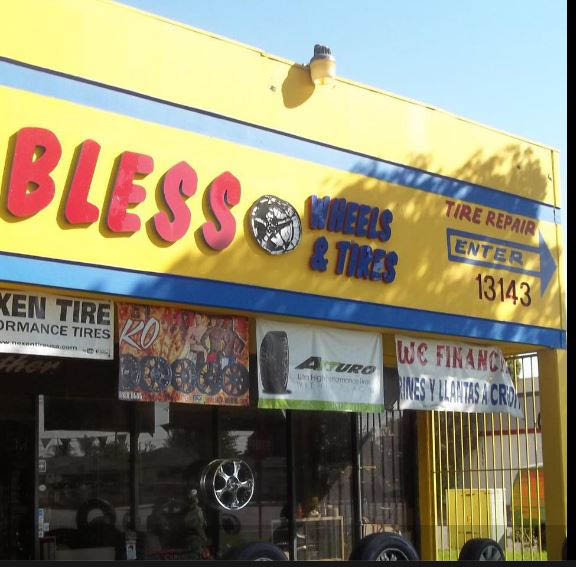 Bless wheels and tires Maywood, CA location