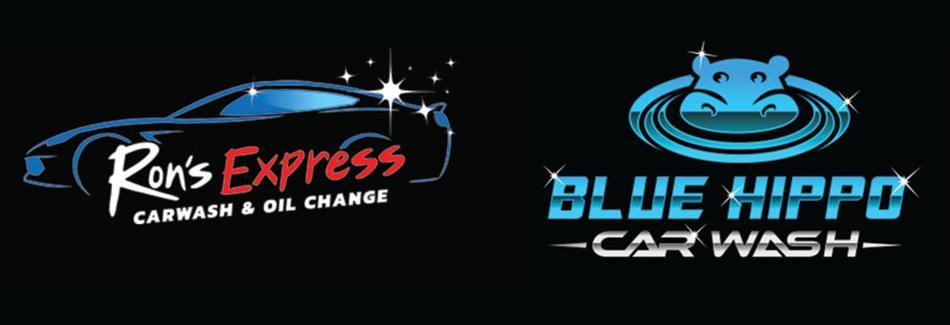 Blue Hippo Express Car Wash banner