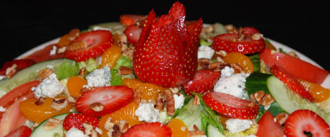 Try our popular Blueberry Hill Cafe Strawberry Nut Salad