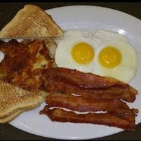 Traditional American-style breakfast at Blue Ridge Family Restaurant