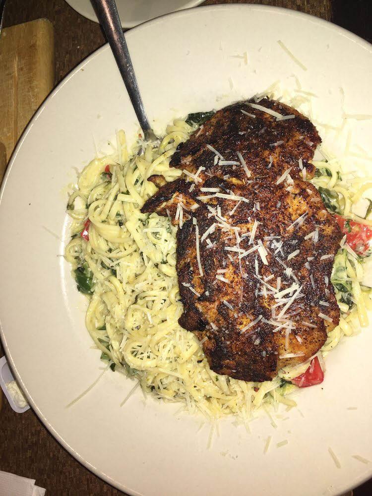 Large portion dinner entree at Blue Moon Diner