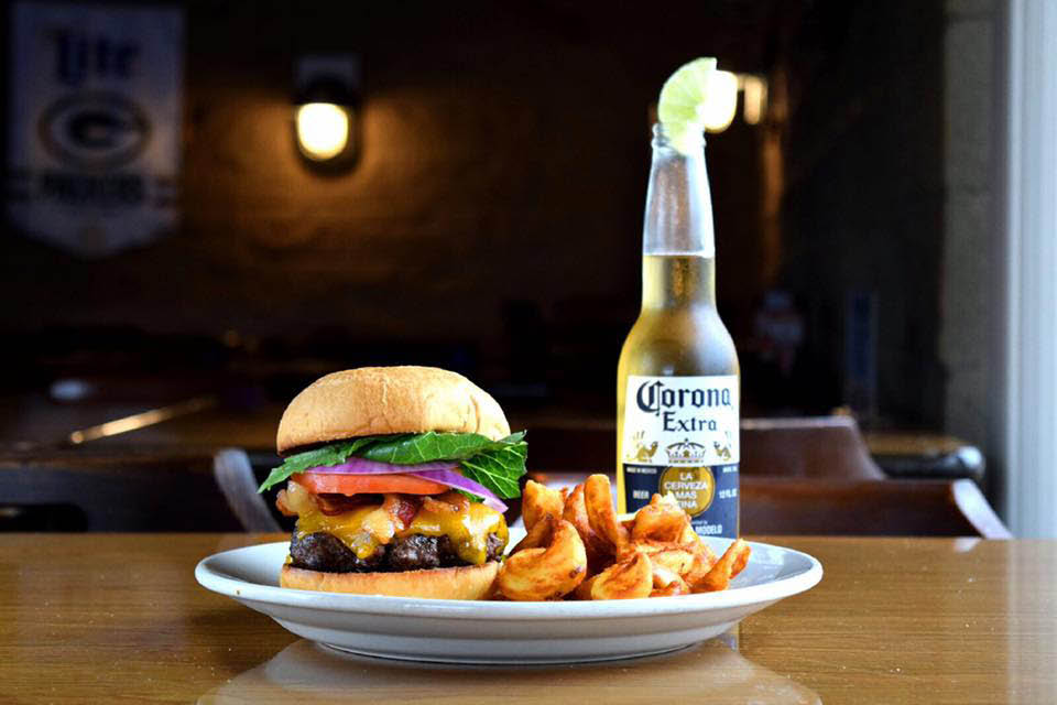 Boosters's Buoy Dock Side Bar and Grill burger Special in Racine, WI