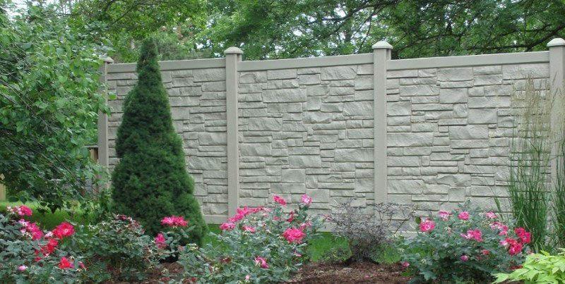 tall stone fence wall in Sacramento, CA; stone walls; Borg Fences