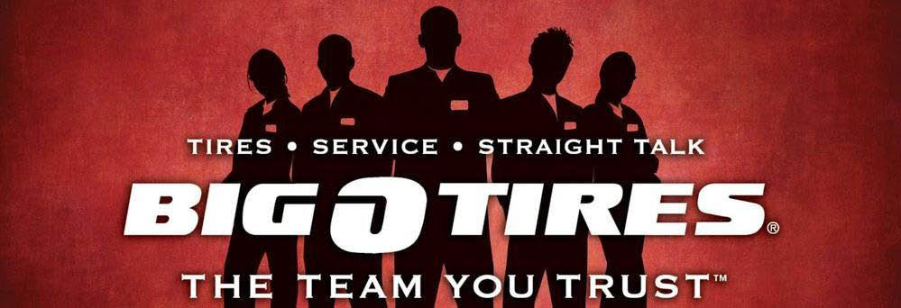 Big O Tires, the Team You Trust - Tires, Service, Trust Banner
