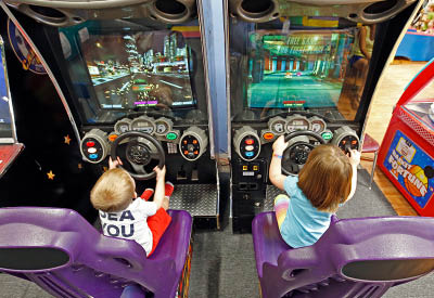 Arcade games - kids love