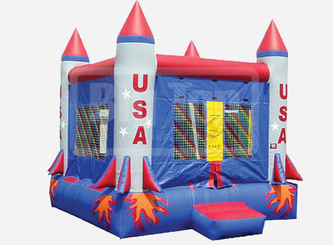 Rocket ship bounce house; bounce house rentals in Shakopee