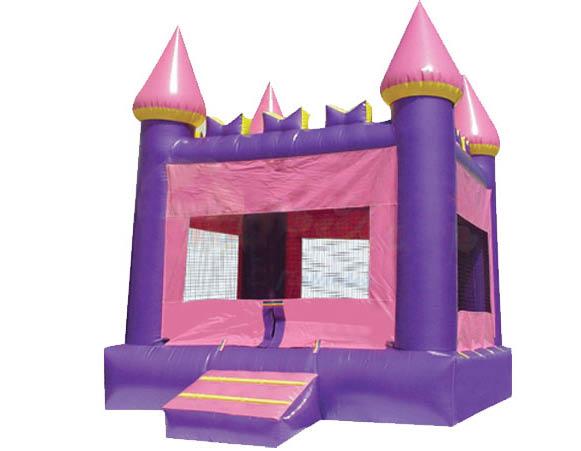 Princess pink castle bounce house