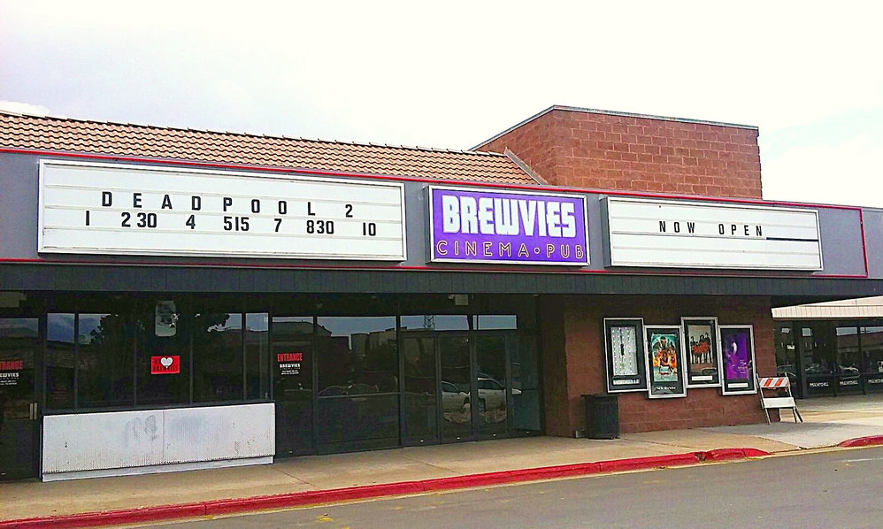 Brewvies Cinema Pub (movie theater) in Ogden, Utah.