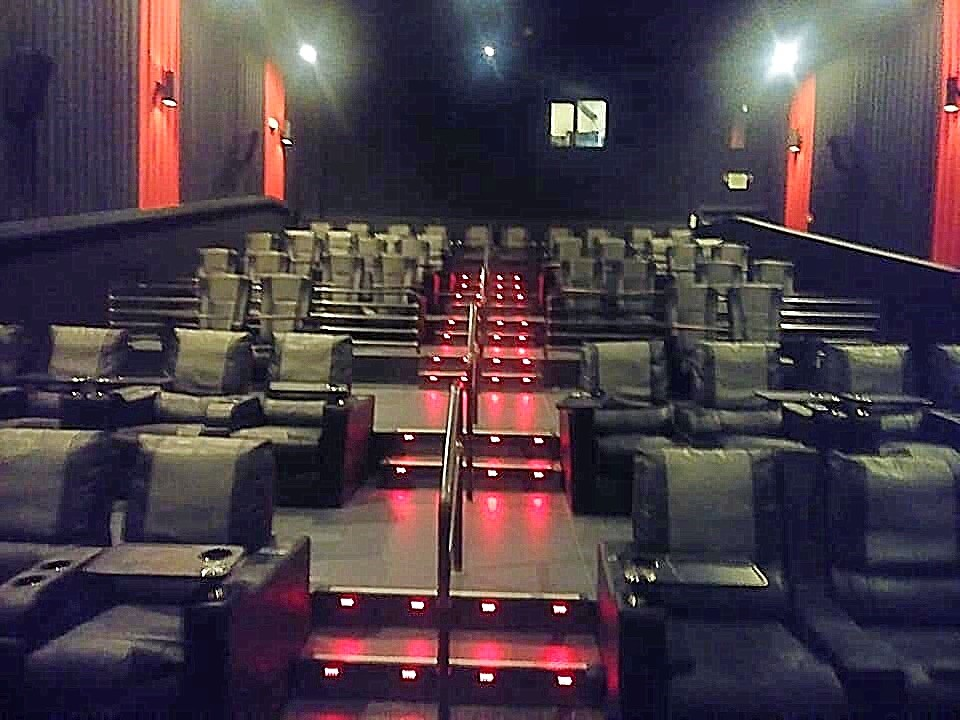 Luxury theater seating at Weber County's Movie Restaurant.