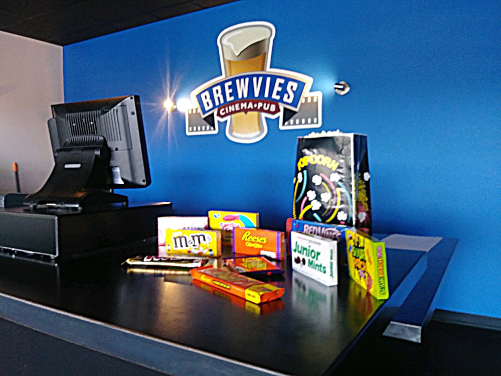 We offer your favorite movie snacks including popcorn, Reese's, Junior Mints, M&M's and more.