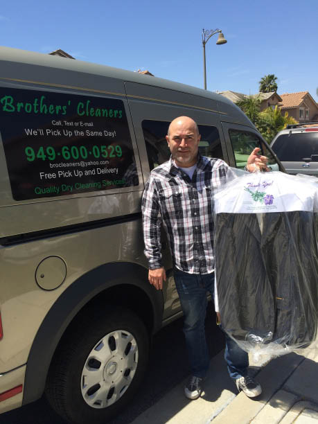 dry cleaning and laundry pick up and delivery; alterations; Brothers' Dry Cleaning; Laguna Niguel