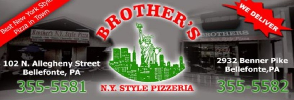 Brother's NY Style Pizzeria in Bellefonte, PA banner