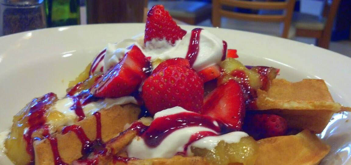 photo of strawberry waffles from Brunch Cafe in Livonia, MI
